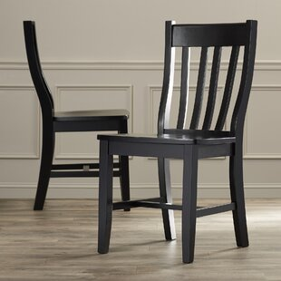 August Grove Toby Traditional Solid Wood Dining Chair (Set of 2)
