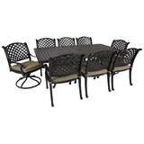 Gadson Castle Rock 9 Piece Dining Set with Cushions