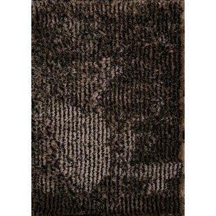 Searching for Katharine Shaggy Oriental Hand-Tufted Black Area Rug ByRed Barrel Studio