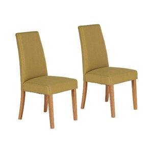 Solid Hardwood Upholstered Dining Chair (Set of 2)