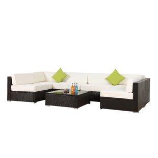 Waldenburg 7 Rattan Piece Sofa Set with Cushions