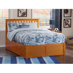 Reid Full Platform Bed with Full Trundle by Viv  Rae