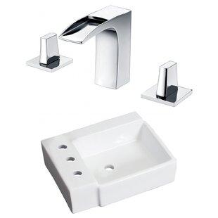 Reviews Ceramic 16.25 Bathroom Sink with Faucet ByRoyal Purple Bath Kitchen