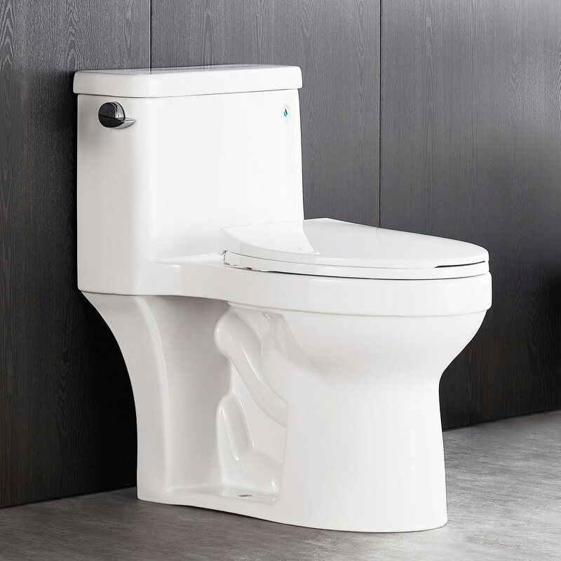 Deervalley 1 28 Gpf Water Efficient Elongated One Piece Toilet Seat Included Reviews Wayfair