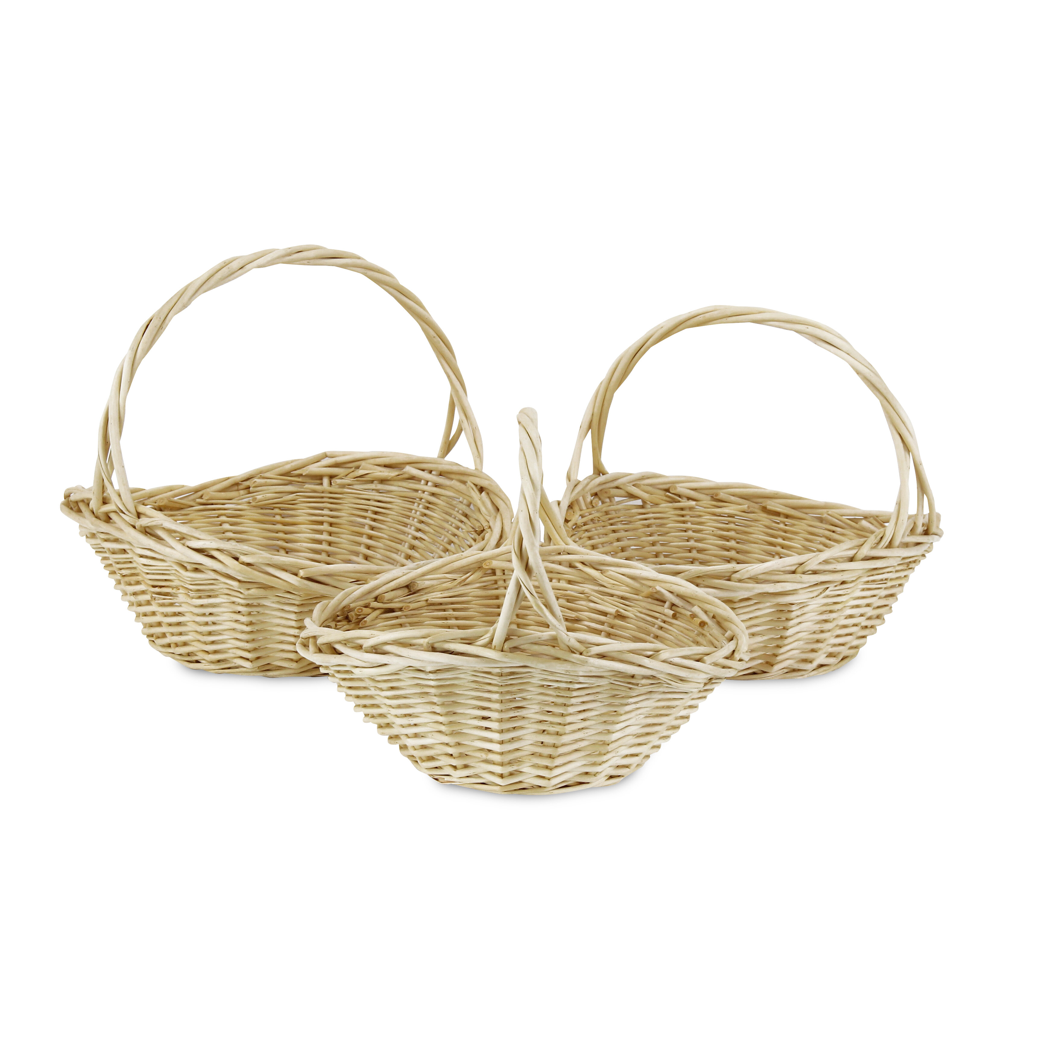 Dovecove Fireside 3 Piece Wicker Rattan Basket Set Wayfair