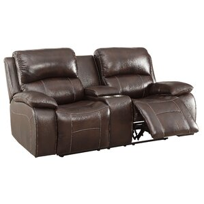 Dolder Contemporary Reclining Loveseat by Re..