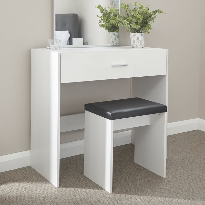 Tommy Compact Dressing Table Set With Mirror