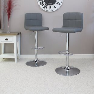 Ackerson Height Adjustable Swivel Bar Stool (Set Of 2) By Wade Logan