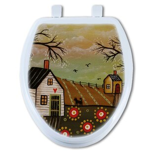 TGC Artisans Seats Country Flowers Round Toilet Seat