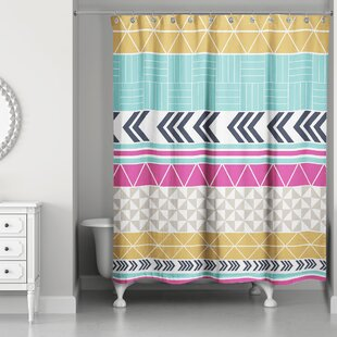 Rickman Stripe Pattern Single Shower Curtain
