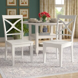 Montecito Solid Wood Cross Back Side Chair Set of 2