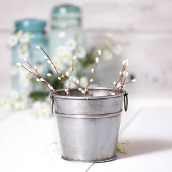 August Grove Danyel Iron Tin Pot Planter Wayfair