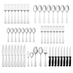 🔥 Simplicity 53-Piece 18/0 Stainless Steel Flatware Set