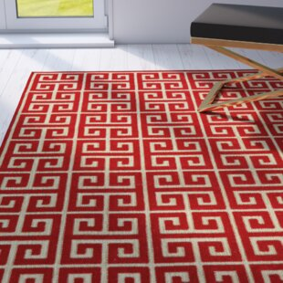 Glenoe Tan/Red Indoor/Outdoor Area Rug