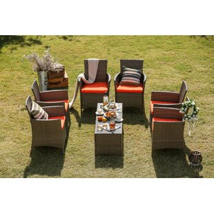 Lyndhurst 9 Piece Conversation Set with Cushions