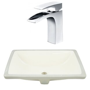 Reviews Ceramic Rectangular Undermount Bathroom Sink with Faucet and Overflow By American Imaginations