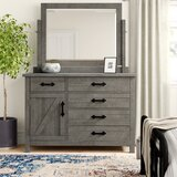 Candler 5 Drawer Gentleman's Chest with Mirror by Three Posts