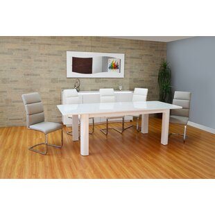 Scaife Extendable Glass Dining Table by O..