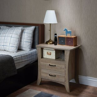 Seefeldt 2 Drawer Nightstand by Wrought Studio