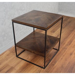 17 Stories Sharell Mango Parquet End Table