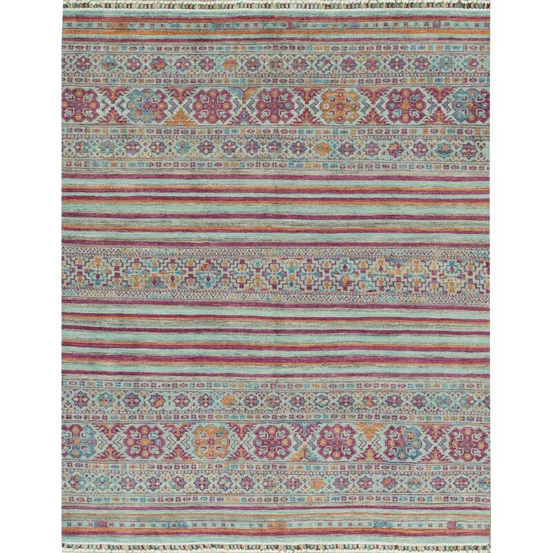 Bokara Rug Co Inc Afghan Oriental Hand Knotted Wool Black Area Rug Wayfair