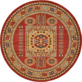 Jaida Red Tibetan Indoor Area Rug by Bloomsbury Market