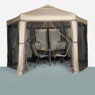 Promo Hex 12 Ft. W x 10 Ft. D Aluminum Patio Gazebo by LB International