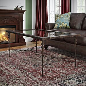 Barkhampstead Glass Coffee Table by Fleur De Lis Living
