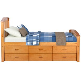 Ellette Twin Platform Bed with 6 Drawers by Harriet Bee