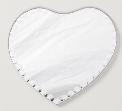 Willson Scalloped Edge Heart Accent Mirror (Set of 6) House of Hampton