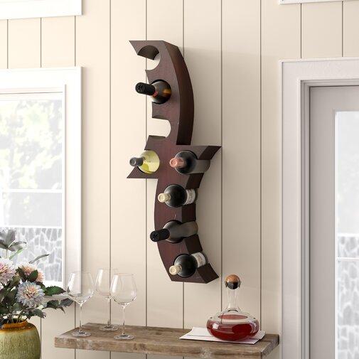 Unique Wine Racks | Unzueta 8 Bottle Wall Mounted Wine Rack