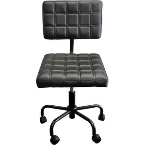 paras rolling quilted drafting chair