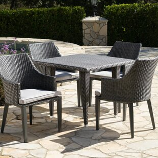 Schall 5 Piece Dining Set with Cushions b..