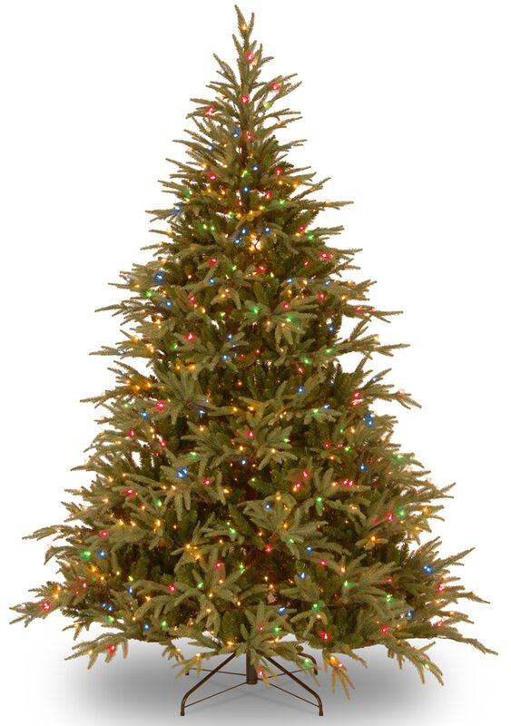 Fraser 6' Green Artificial Christmas Tree with 800 LED Multi ...