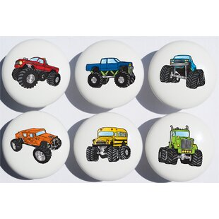 Monster Truck Mushroom Knob (Set of 6)