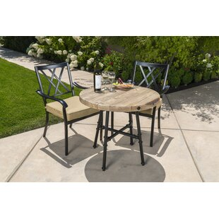 Chiara 3 Piece Bistro Set with Cushions by Alcott Hill