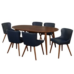 West Line 7 Piece Dining Set by George Oliver 2019 Sale