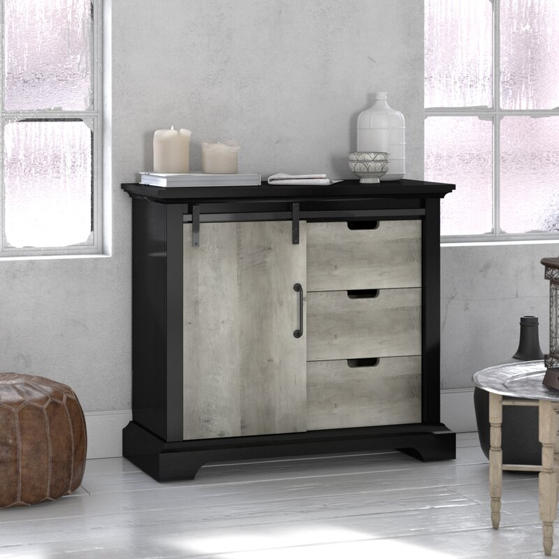 Mohammad Sliding Accent Cabinet by Laurel Foundry Modern Farmhouse