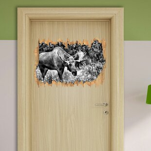 Large Elk Wall Sticker By East Urban Home