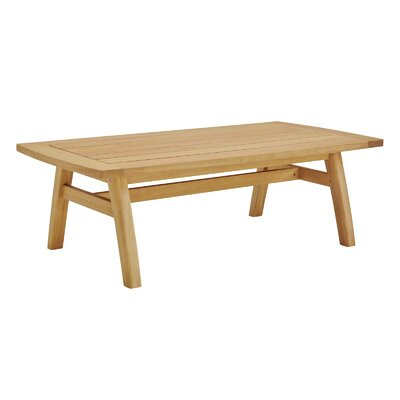 Reanna Patio Wooden Coffee Table by Rosecliff Heights New Design