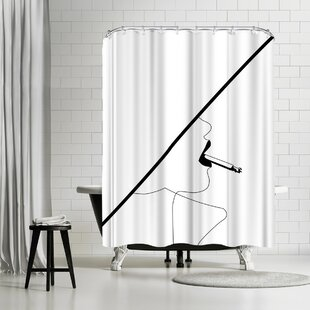 East Urban Home Explicit Design Kate Smokes Shower Curtain