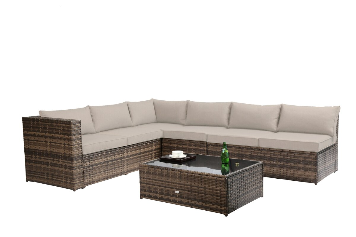 Fewell Sectional with Cushions  sc 1 st  Wayfair : sectional cushions - Sectionals, Sofas & Couches