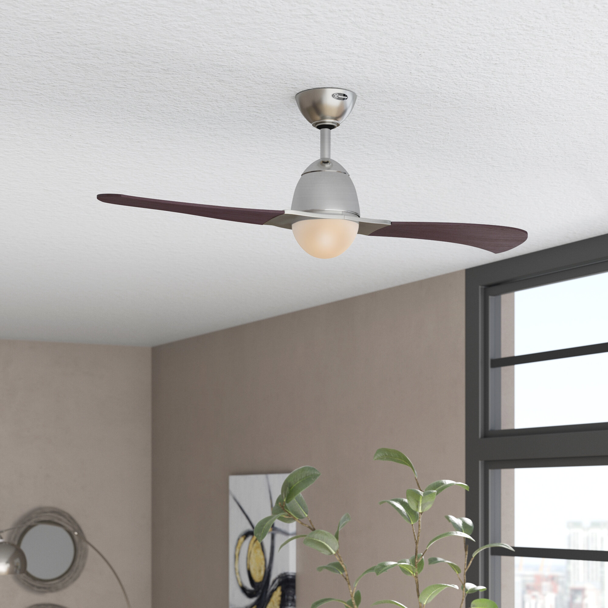 Orren Ellis 48 Amezquita 2 Blade Propeller Ceiling Fan With Remote Control And Light Kit Included Reviews Wayfair