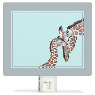 Oopsy Daisy Non-Personalized You And Me Giraffe Canvas Night Light