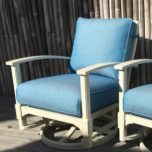 Rosecliff Heights Cross Patio Chair with Sunbrella Cushions (Set of 2)