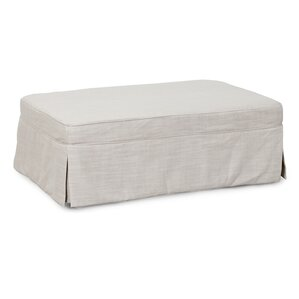Slipcovered Sleeper Ottoman by Sunset Trading
