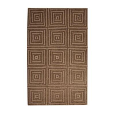 Brayden Studio Tawney Geometric Hand Knotted Wool Gold Brown Area Rug Brayden Studio Rug Size 8 X 10 Dailymail