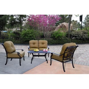 Calhoun 4 Piece Sofa Set with Cushions