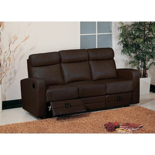 Leather Leather Reclining Sofa Hokku Designs