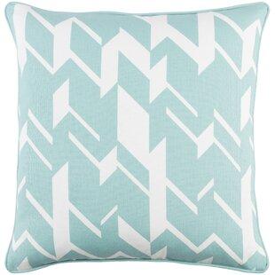 Antonia Geometric Square Cotton Throw Pillow